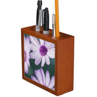 Purple Daisies Desk Organizer
