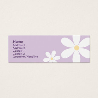 Purple Daisies - Skinny Mini Business Card