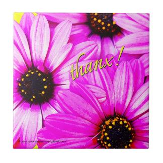 Purple Daisies, thanx! - Ceramic Tile