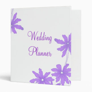 Purple Daisies Wedding Binder