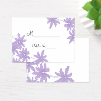 Purple Daisies Wedding Place Cards