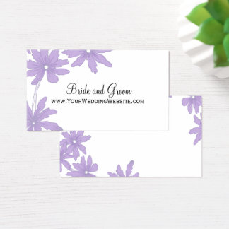 Purple Daisies Wedding Website Card