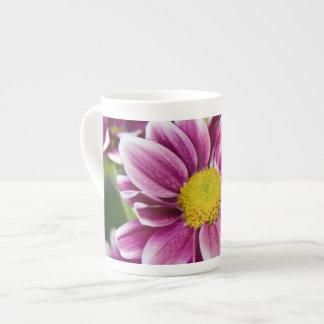 Purple daisy bone china mug