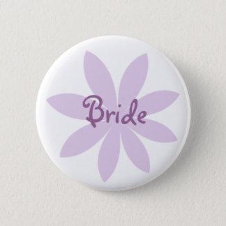 Purple Daisy Bride 2 Inch Round Button