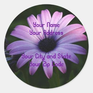 Purple Daisy Classic Round Sticker
