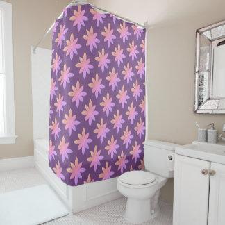 Purple daisy design shower curtain