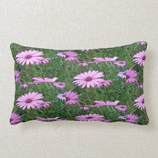 Purple Daisy Field Pattern Lumbar Pillow