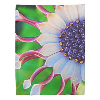 Purple Daisy Floral Flower Modern Girly Duvet Cover