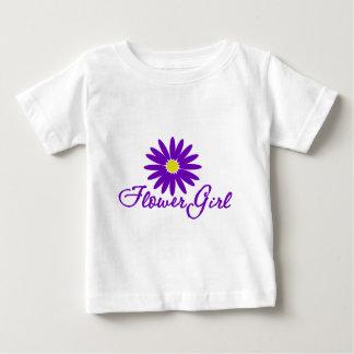 Purple Daisy Flower Girl Shirts