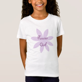 Purple Daisy Flower Girl T-Shirt