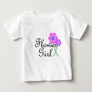 Purple Daisy Flower Girl T-shirts