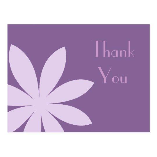 Purple Daisy Flower Thank You Postcard