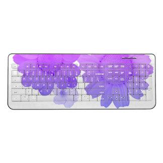 Purple Daisy Flowers Artsy Photography Wireless Keyboard