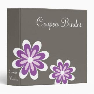 Purple Daisy Flowers Coupon Organizer 3 Ring Binders