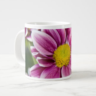 Purple daisy large coffee mug