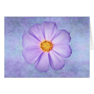 Purple Daisy on Lavender, Teal, and Aqua Template