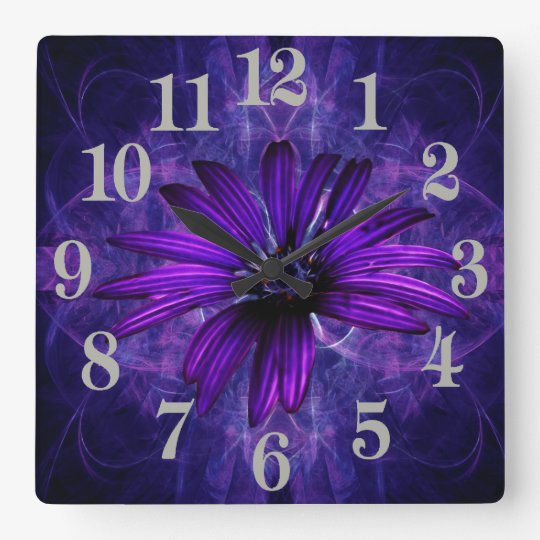 Purple Daisy Passion Wall Clock