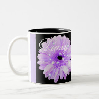Purple Daisy Sparkle Coffee Mug