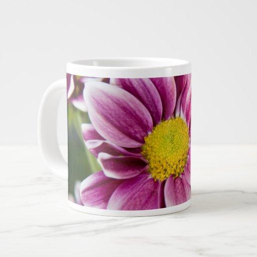 Purple daisy jumbo mug