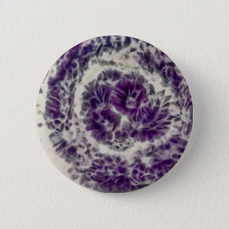 Purple Daisy Swirl 2 Inch Round Button