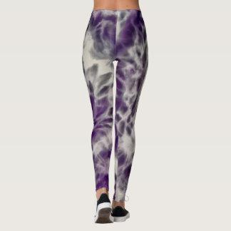 Purple Daisy Swirl Leggings