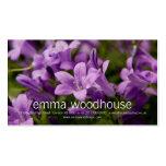 Purple Dalmatian Bellflowers Business Card