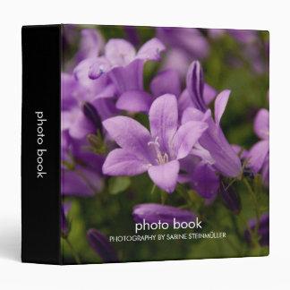 Purple Dalmatian Bellflowers Photo Book Binder