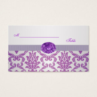 Purple Damask, amethyst picture Wedding Place card