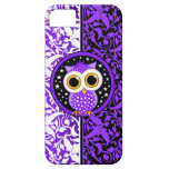 purple damask and cute owl iPhone 5 covers