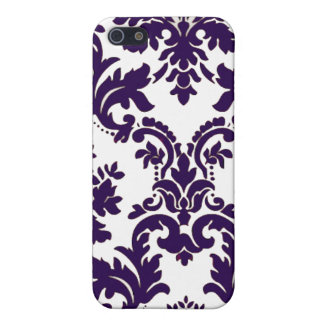 Purple Damask Cover For iPhone 5/5S