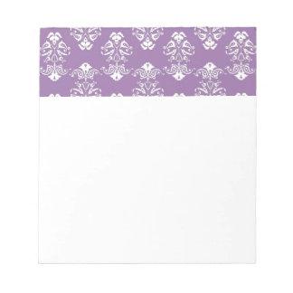 Purple Damask Notepad
