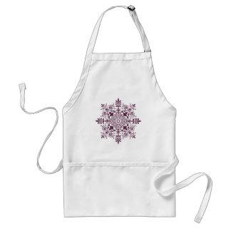 purple damask ornamental design standard apron