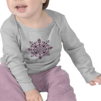 purple damask ornamental design shirts