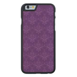 Purple damask pattern carved® maple iPhone 6 slim case