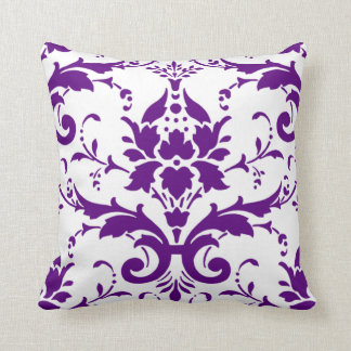 Purple Damask Pillow