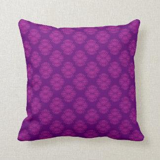 Purple Damask Pillow