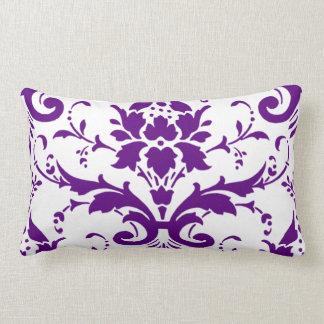 Purple Damask Pillow lumbar