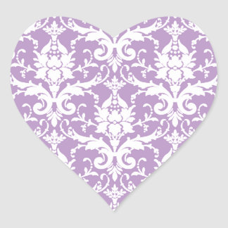 Purple Damask Spring 2013 Chic Pop Color Heart Sticker