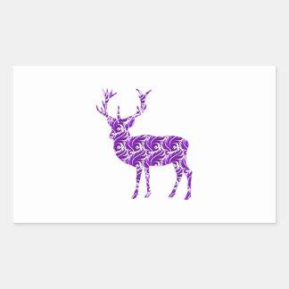 Purple Damask Stag Sticker