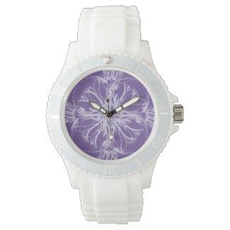 Purple Damask Vintage Floral Watch