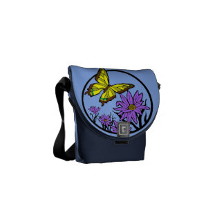 Purple Dance Courier Bag