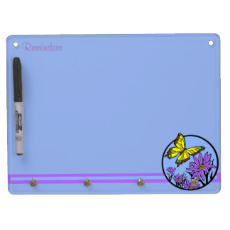 Purple Dance Dry Erase Board With Keychain Holder