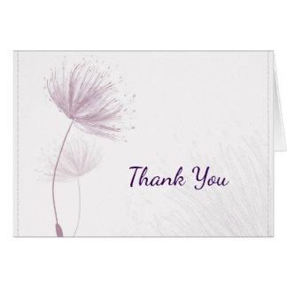 Purple Dandelion Wedding Thank You Card