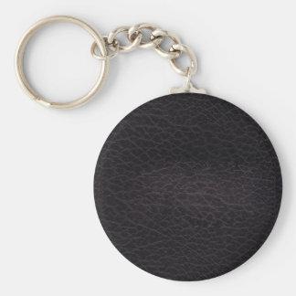Purple dark elegant stylish & chic real leather keychain