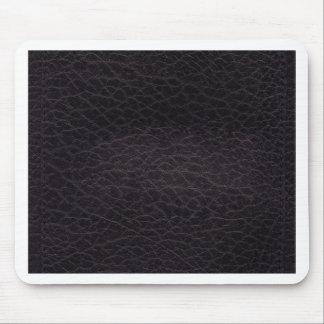Purple dark elegant stylish & chic real leather mouse pad