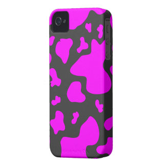 Purple/Dark Gray Cow Print - iPhone 4/4s Case