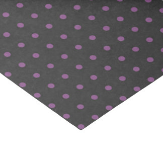 Purple & Dark Gray Polka Dot Tissue Paper