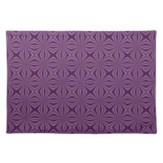 Purple Darkest Squiggly Squares Placemat