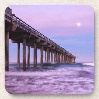 Purple dawn over pier, California Coaster