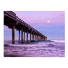 Purple dawn over pier, California Postcard